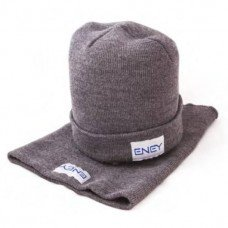 Набір в'язаний шапка+бафф, унісекс