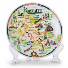 Тарелка керамическая сувенирная D 200 мм