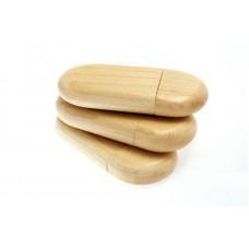 Деревянная флешка с колпачком