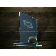 Стеклянная награда PG258