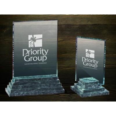 Стеклянная награда PG016
