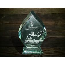 Стеклянная награда PG017
