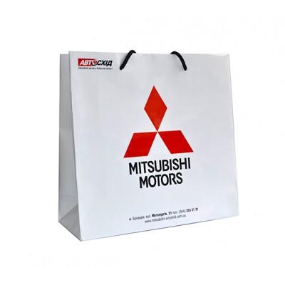 Бумажные пакеты с лого Компании из мелованной бумаги 200г/м2