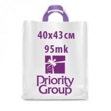 """Пакеты 40х43 cm """"петлевая ручка"""" 95mk"""