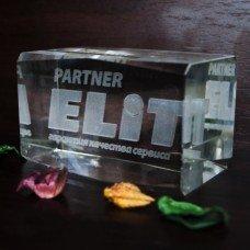Скляна нагорода «Partner ELITA»